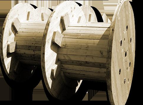 Výroba a vývoz dřevěných kabelových bubnů na zakázku