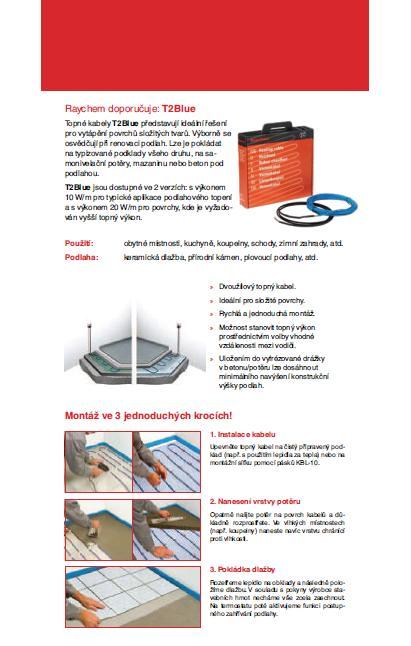 Montáž podlahové topení