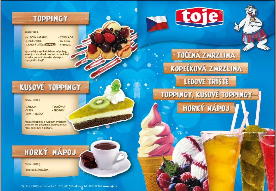 Zmrzlinové směsi, zmrzlinové pasty, sorbety, sirupy pro ledovou tříšť, Břeclav