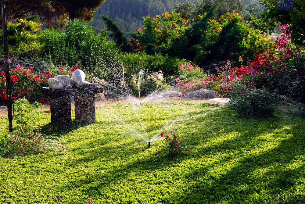 realizace zahrady včetně zavlažování, osvětlení