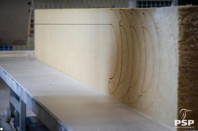 Tvarové izolace, polyuretanové desky Vysoké Mýto