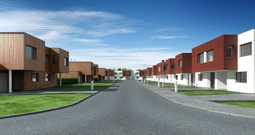 Výstavba řadových domů Ostrava