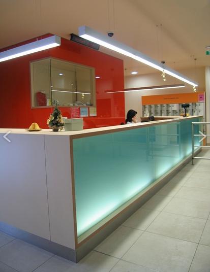 Aquacity recepce - interiérové vybavení