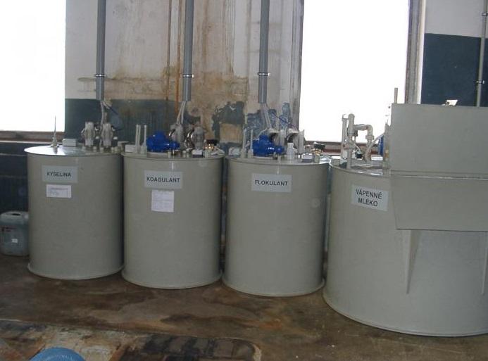 Chemické čistění odpadních vod, Praha