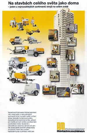 Prodej, pronájem, servis stavebních, omítacích strojů Prostějov