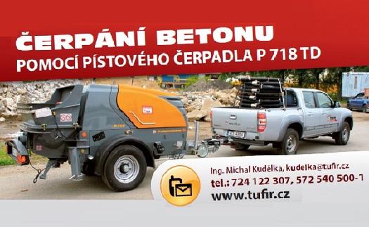 Čerpadlo na beton - čerpání betonu pískovým čerpadlem P 718 TD