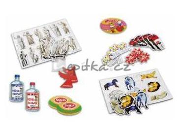 Upomínkové magnetky, reklamní bloky s kroužkovou vazbou