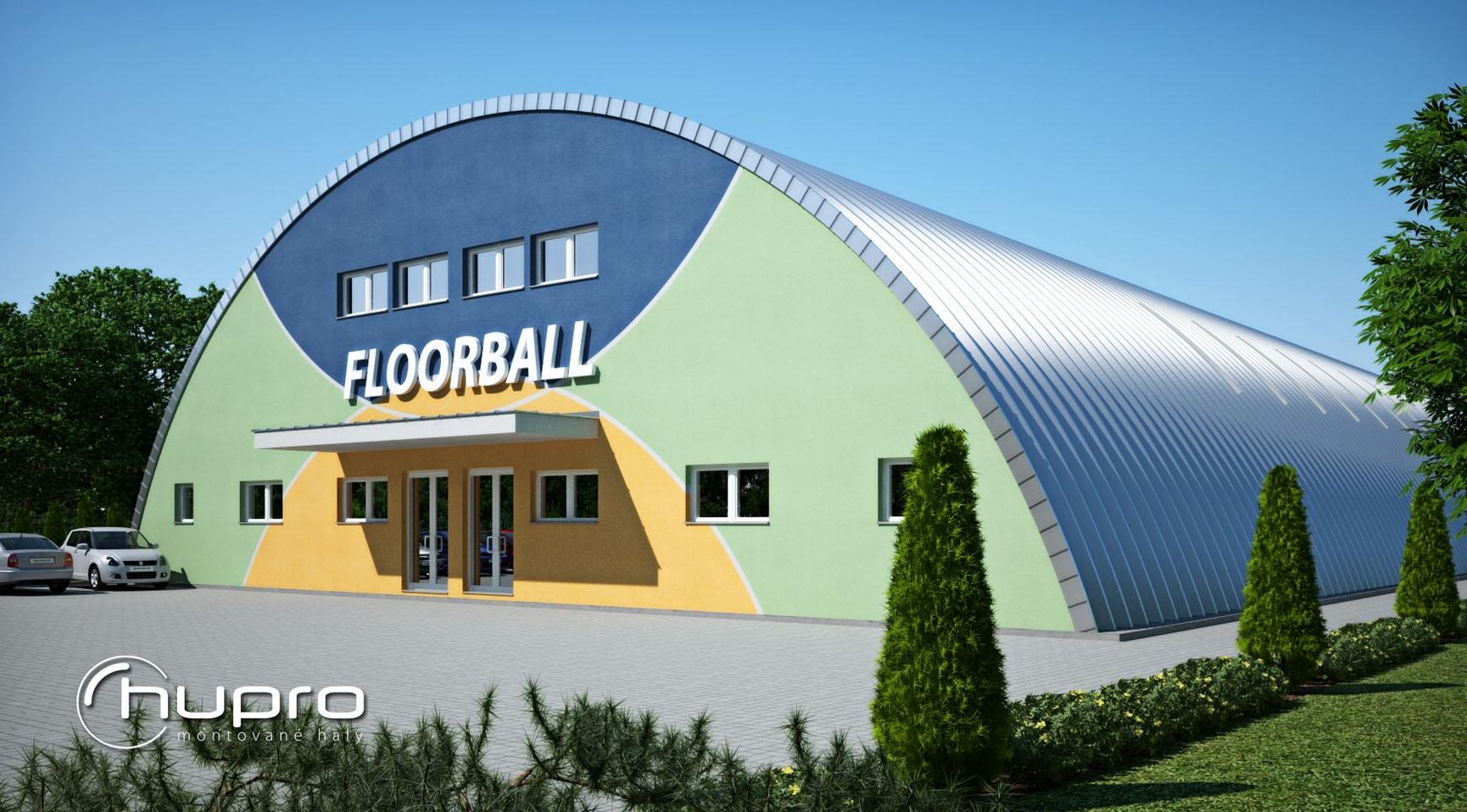 Výstavba, samonosné montované sportovní haly obloukové Zlín