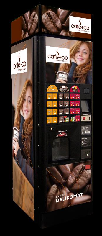 Nápojový automat  na kávu a teplé nápoje