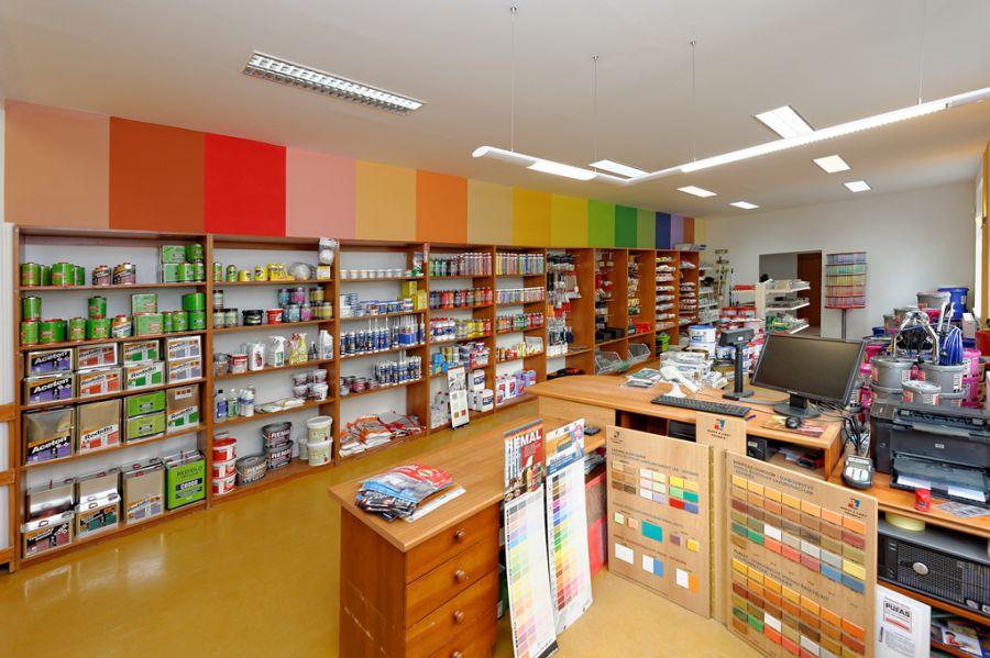 Prodejna interiérových, dekorativních, fasádních barev Kroměříž