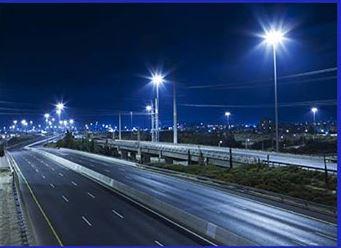 Veřejné osvětlení, pouliční sloupy veřejného osvětlení, silniční stožáry