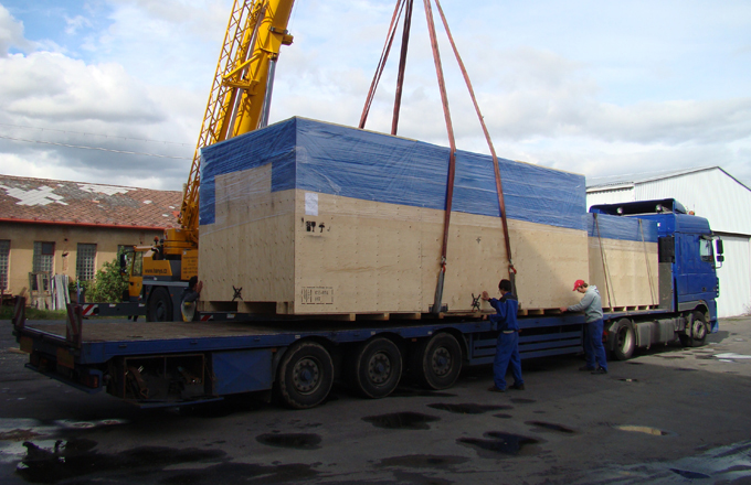 Prepravné balenie tovaru, balenie strojov pre export