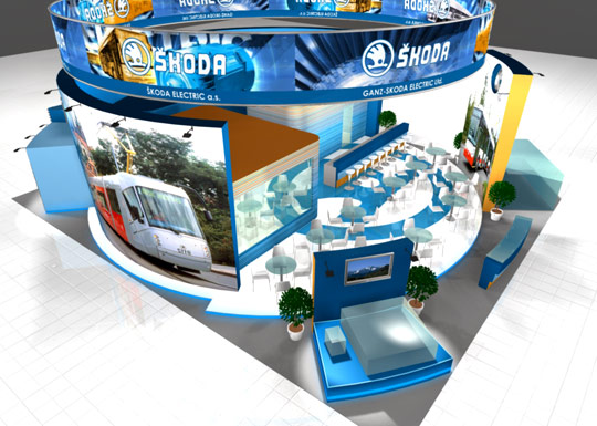 Visual solution of expositions Brno, design visualization in 3D studio, the Czech Republic