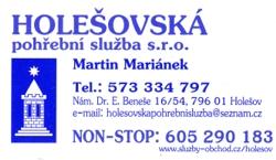 Komplexní pohřební služby zajistí nonstop pohřebnictví v Holešově