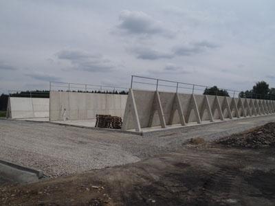 Opěrná stěna pro silážní jámy a hnojiště Jindřichův Hradec