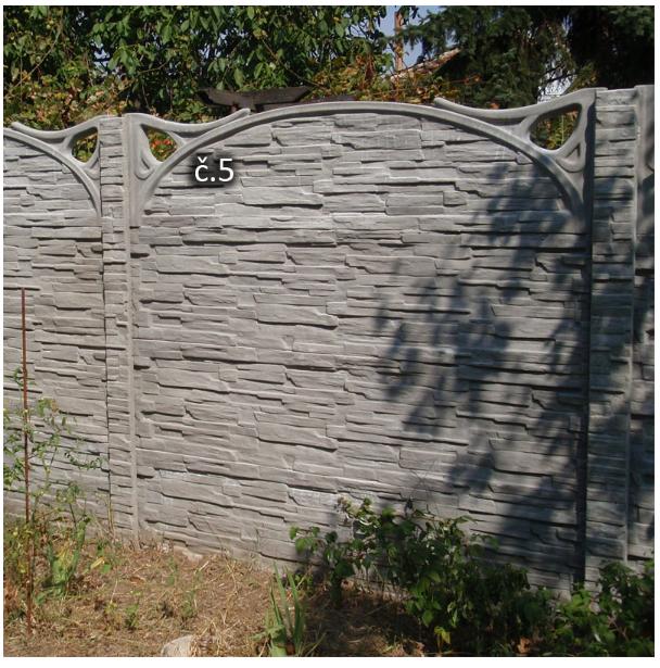 Betonový plot oboustranný Harašta Pohořelice