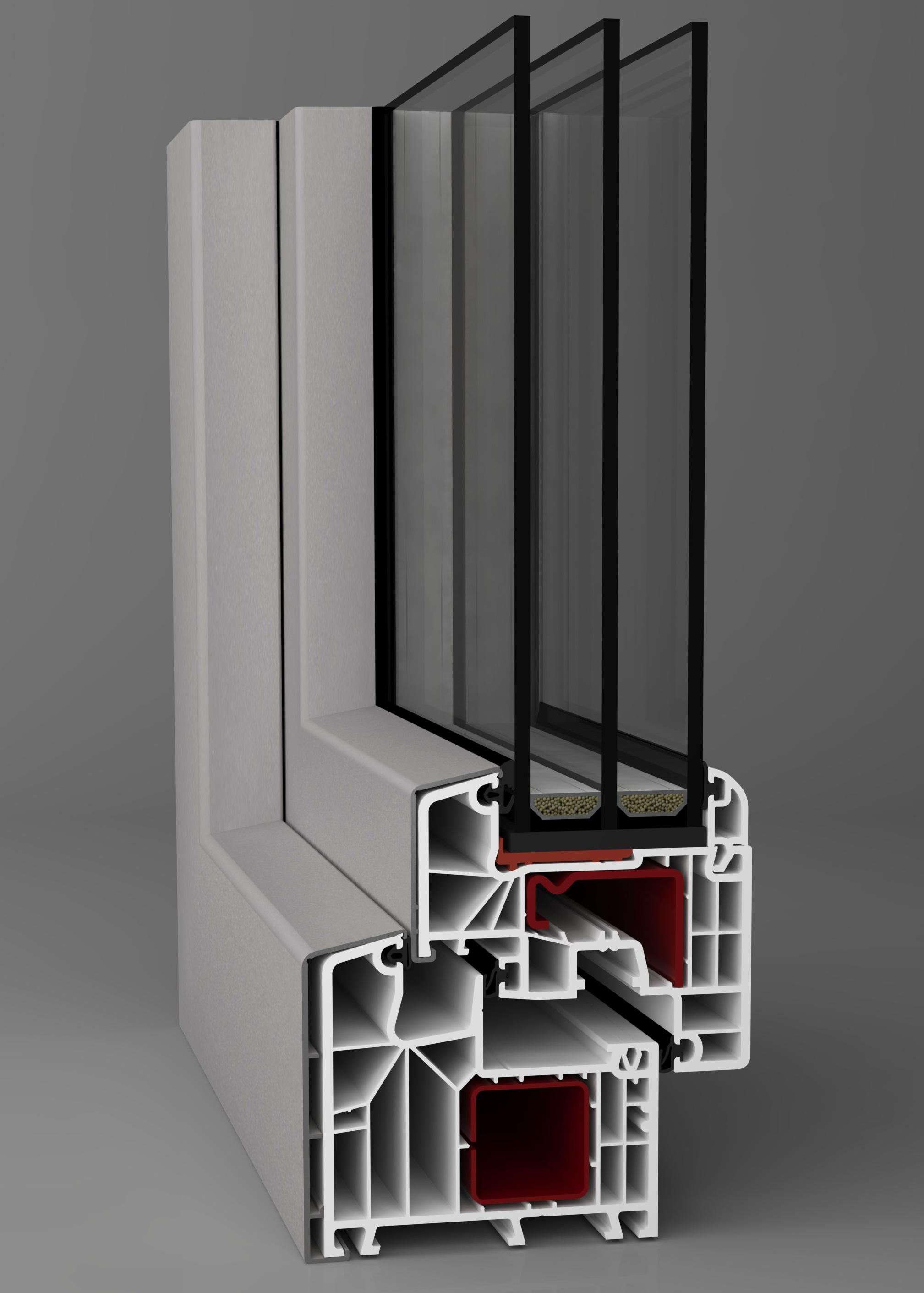 Dodatečné hliníkové opláštění oken Aluskin pro okenní systémy Midea, Supra, Supra energeto