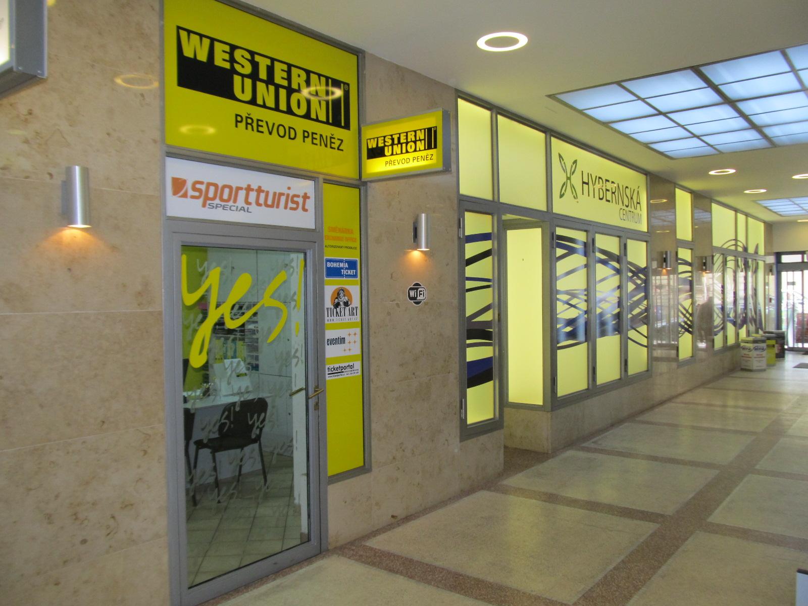 Ticketportal ticket office, Western Union, Prague, the Czech Republic