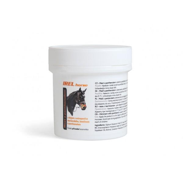 IREL Horse – mast s panthenolem;         Ke zklidnění podrážděné kůže vašeho čtyřnohého přítele