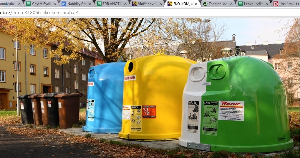 Jak správně třídit odpady v Praze - jednotlivé barvy co znamenají