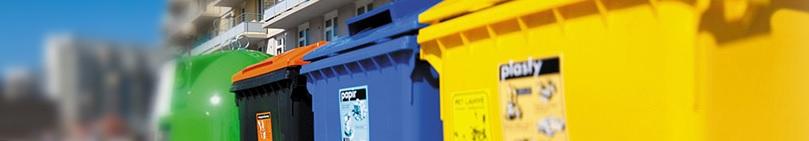 Barevné kontejnery na odpad