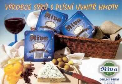 Delikatesní sýr s plísní uvnitř hmoty, sýr Niva