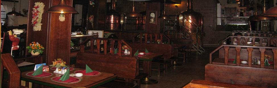 Prostory restaurace - Pivovarský dvůr Chýně
