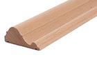 lišty z masivního dřeva v různých délkách a šířkách