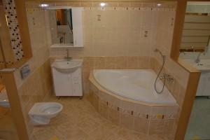 Rekonstrukce koupelny, realizace nových rozvodů odpadů a vody