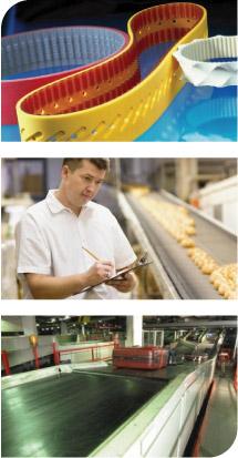 Výroba dopravních pásů a ozubených řemenů pro průmysl