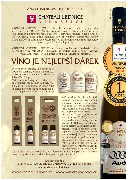 Dárková vína, víno jako dárek Lednice na Moravě - vína s vaším logem firmy na etiketě.