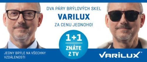 Dioptrické brýle Kroměříž-akce 1+1 na brýlové čočky Varilux