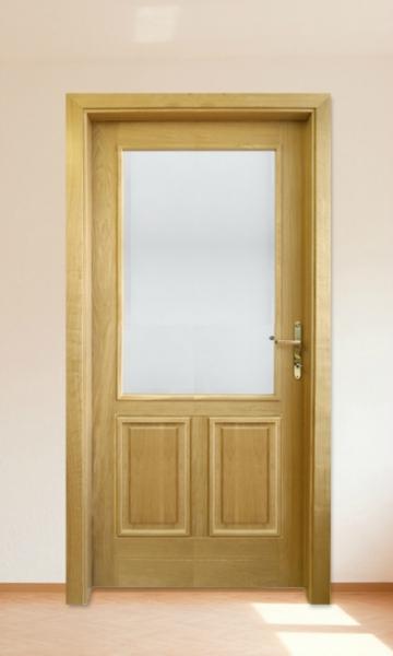 Interiérové dveře - zasklení ornamentími skl