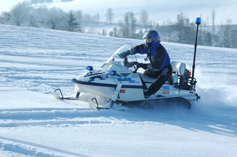 Sněžný skútr Tajga či Buran - to nejlepší na zimu (Vysočina)
