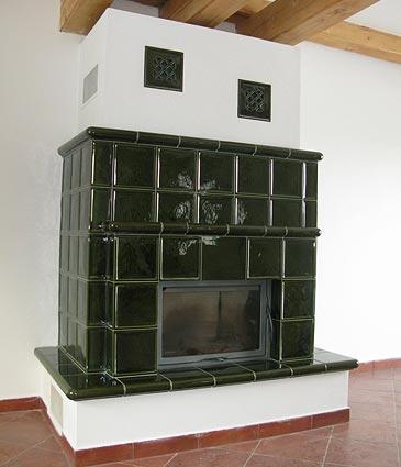 Krbová kamna kachlová, moderní krby-stavba krbů