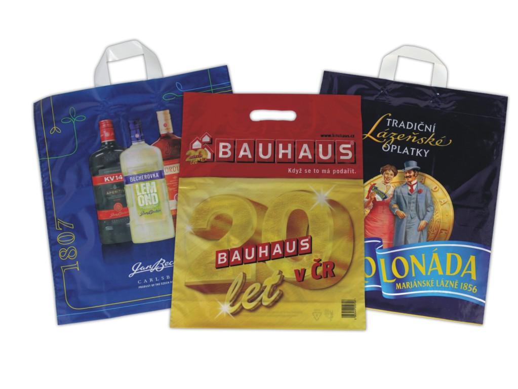 Reklamní igelitové tašky s potiskem Prostějov