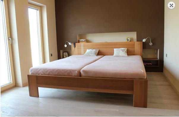 Manželské, patrové dětské postele z masivu, lamina