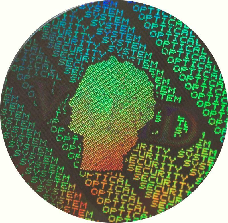 Bezpečnostní autodestruktivní holografické samolepky