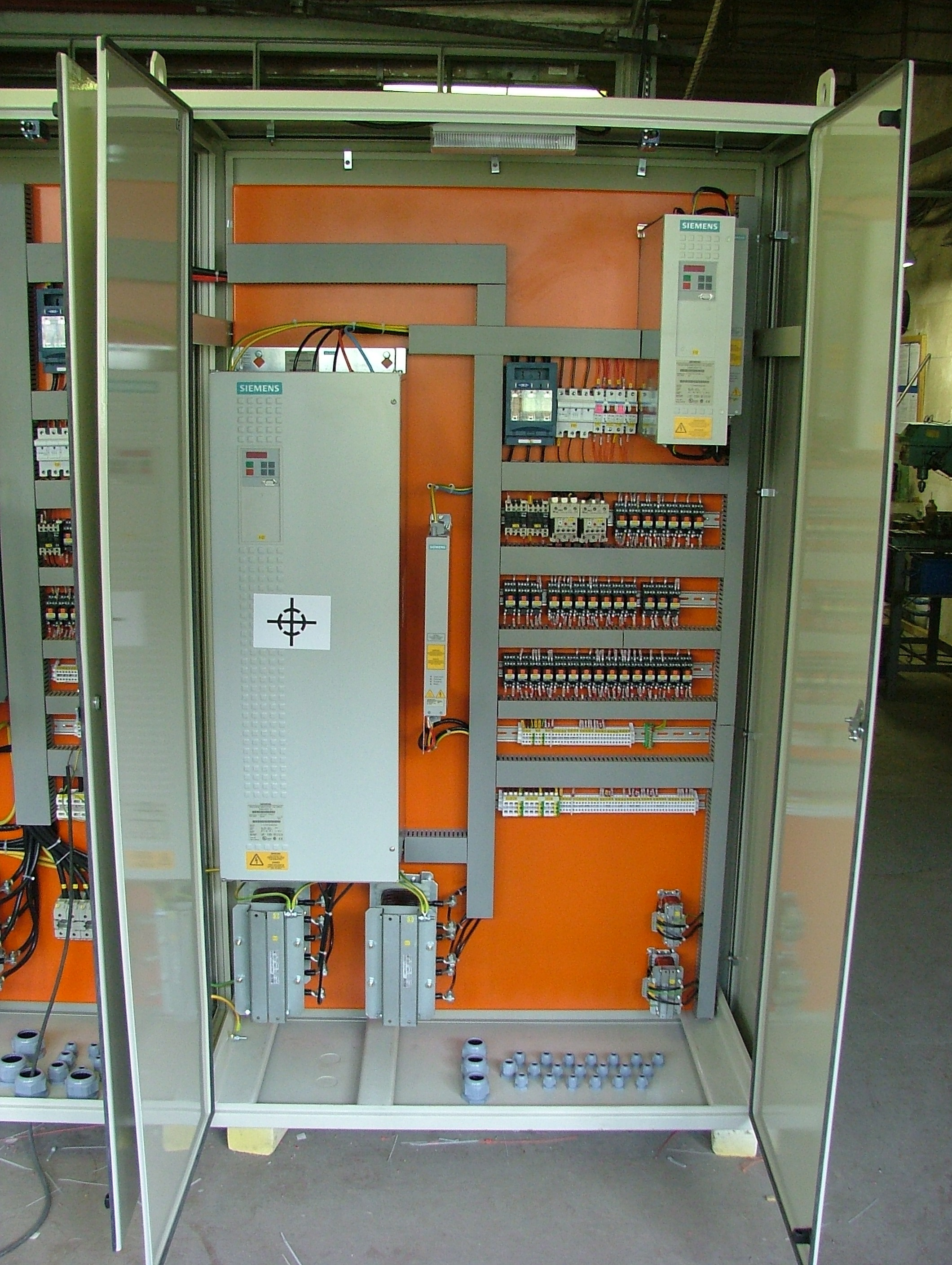 Production of switchboards, wiring, electrical installations