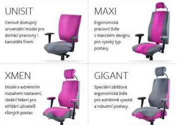 Zdravotní kancelářské židle Therapia pro pohodlné, zdravé sezení