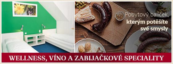 Wellness pobyt pro dva, pobytový wellness balíček Moravský dvorek, jižní Morava
