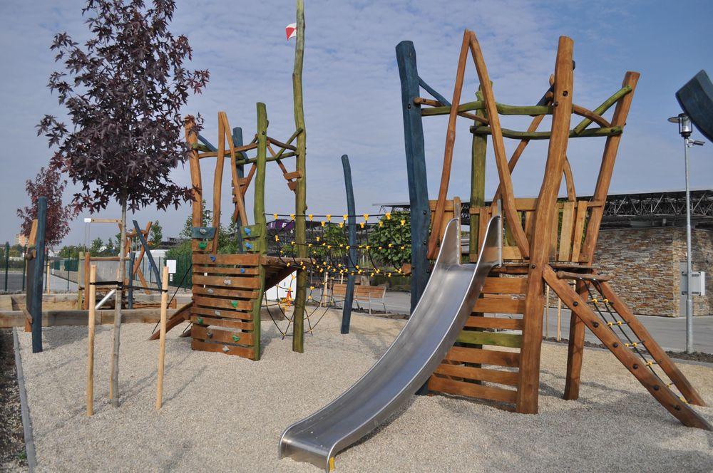 Drevené detské ihriská, výroba vybavení drevených ihrísk Zlínsky kraj