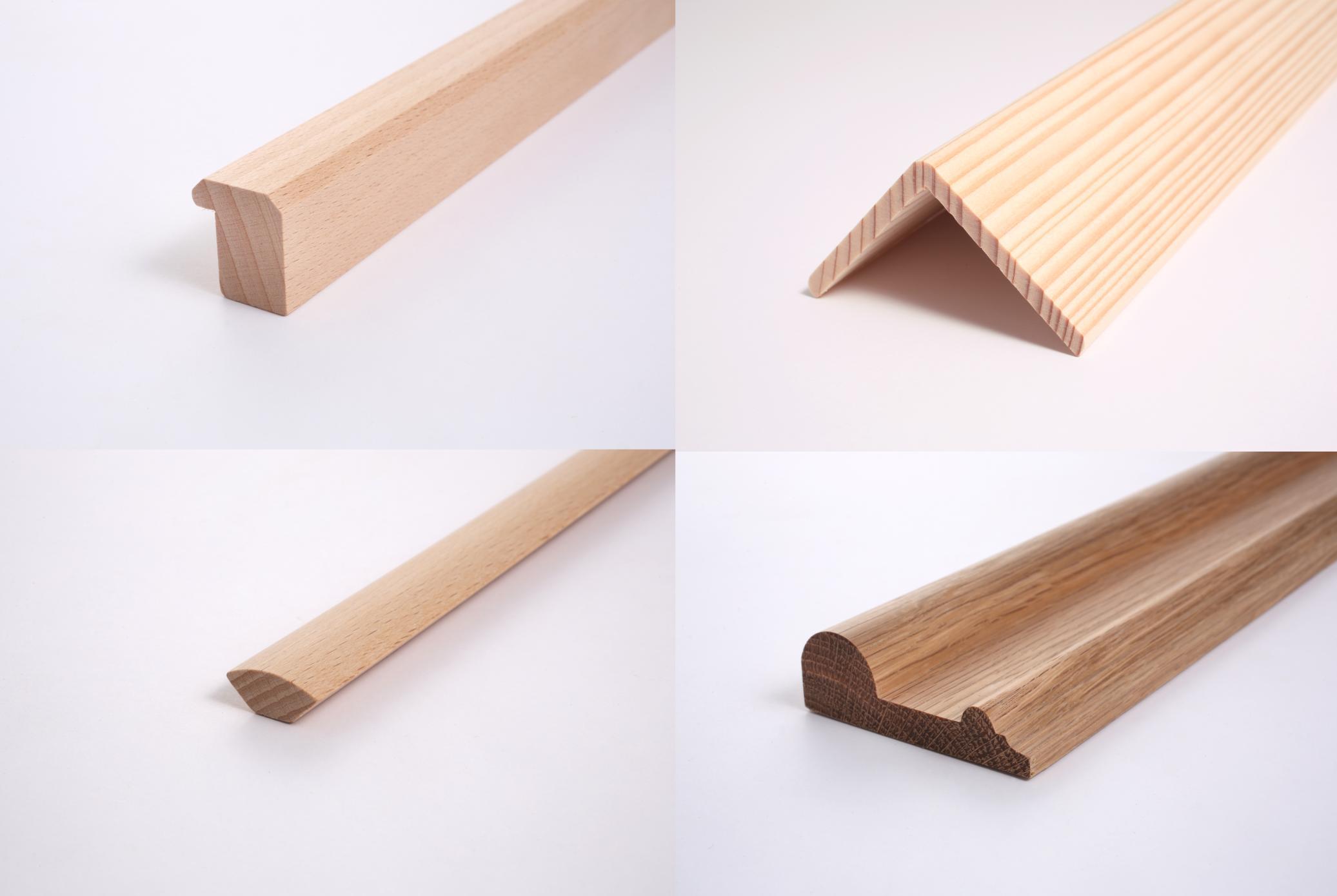 Lišty z masívneho dreva, obaľované lišty.