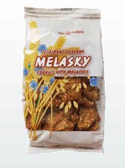 Celozrnné sušenky Melasky