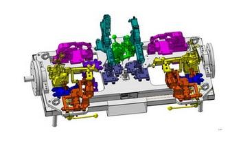 Svařovací stroje pro automobilový průmysl.
