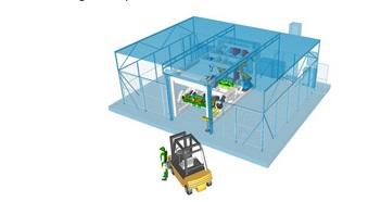 Robotická pracoviště pro různé výrobní technologie.