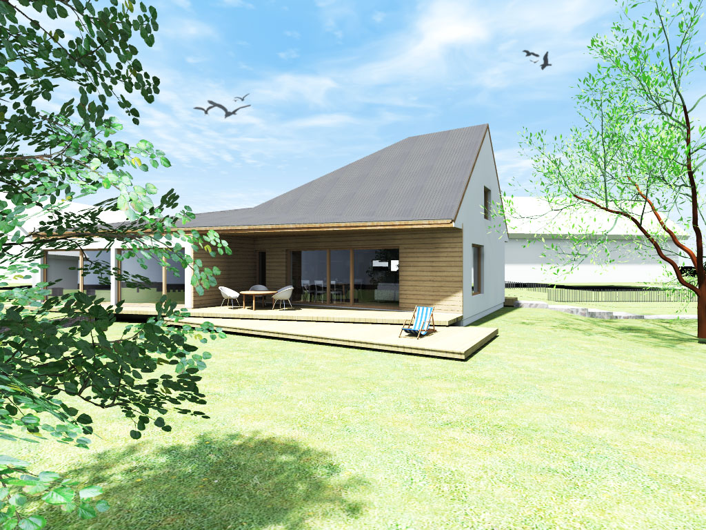 Návrh rodinného domu - dřevostavba