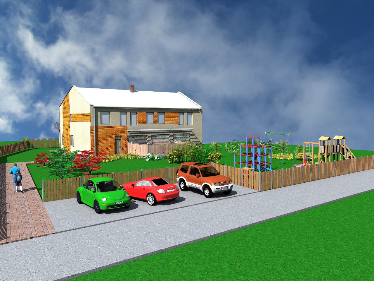 Návrh a architektonická studie staveb