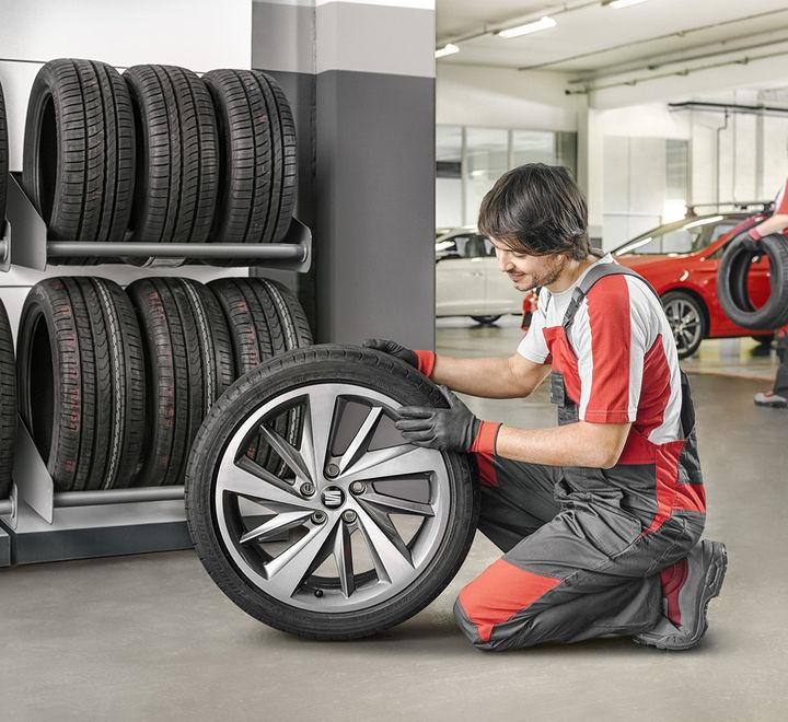 Přezouvání kol, pneuservis Seat, uskladnění pneumatik