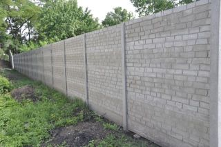 oboustranný betonový plot Pohořelice